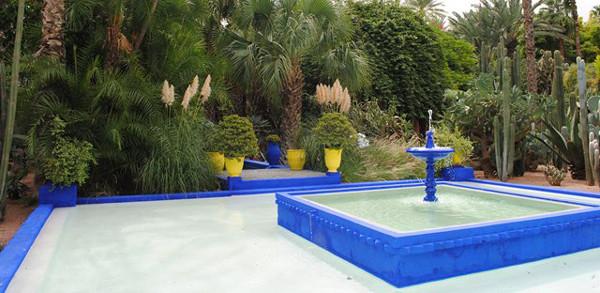 Lugares con encanto el jard n majorelle de marrakech for Jardines de soraya