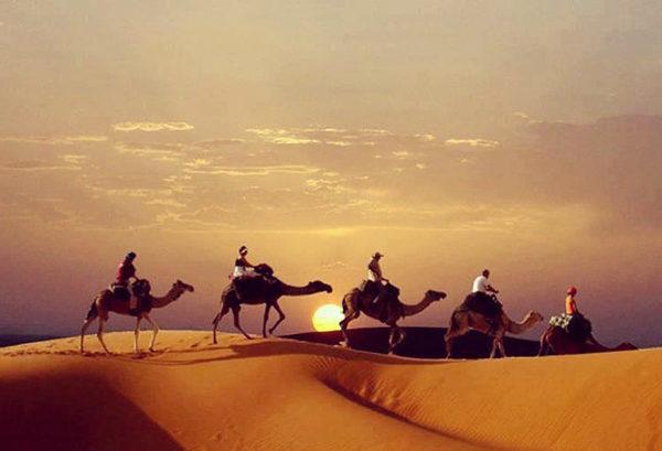 atardecer desierto