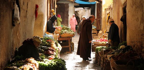 calle de medina de Fez